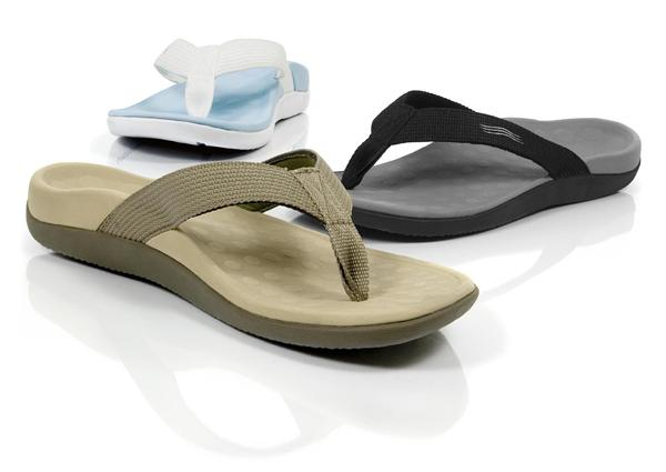 Vionic flip flops arch support top foot pain