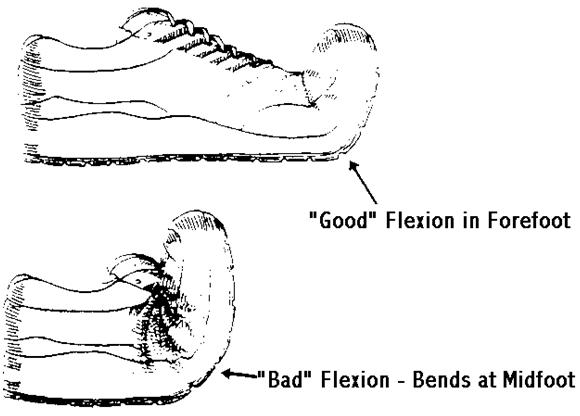 stable shoes bend toes