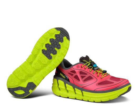 hoka thick midsole shoe