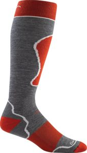 ski sock with shin padding